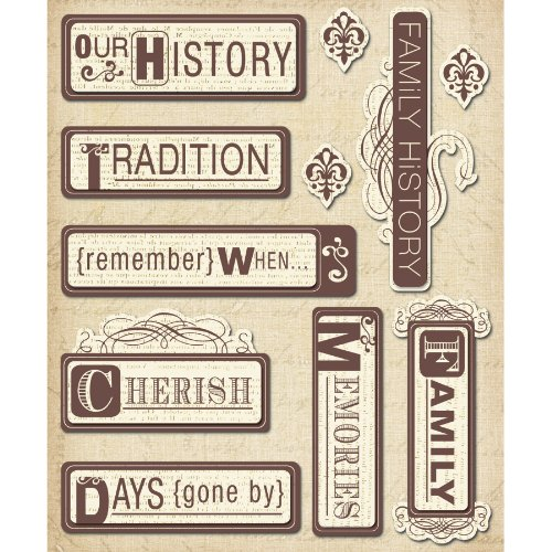 K&Company Heritage Words Sticker Medley