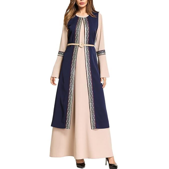 Zhhlinyuan Mujeres Modestas Musulmanas Islámicas Ramadán Negocios Arabia árabe Tradicional Abaya Vestido