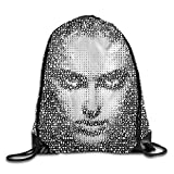cool shower heads for sale Leaf-jigsaw-head Portrait Cool Gym Drawstring Bags Travel Backpack Tote School Rucksack