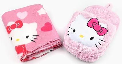 4ea3abac8 Amazon.com: Hello Kitty Foot Warmer & Throw Blanket Set: Home & Kitchen