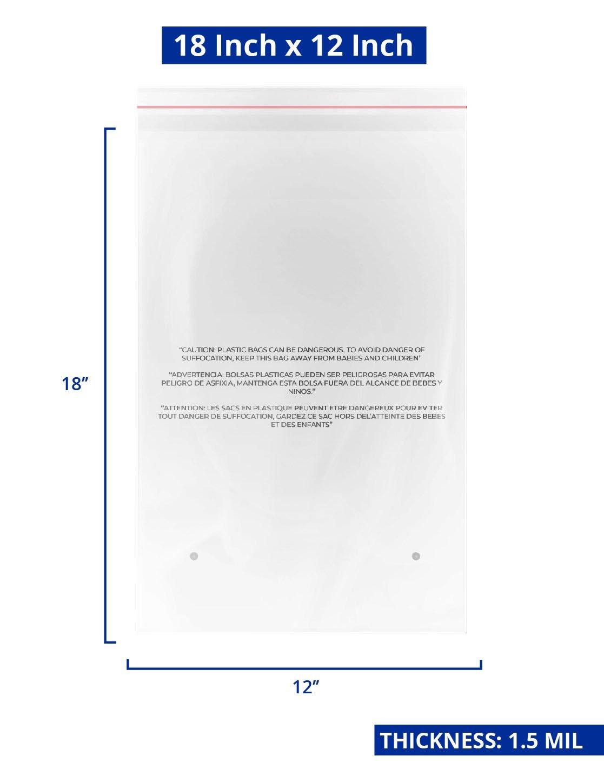 bundle 3 sizes of fba compliant suffocation warning bags self