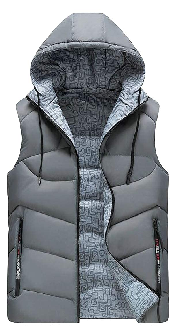 HTOOHTOOH Mens Slim Fit Outwear Thick Warm Down Jacket Vest Quilted Waistcoat