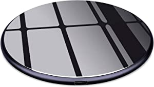 Te-Rich 7.5W Qi Wireless Charger Compatible w/iPhone XR/XS Max/X/10 iPhone 8/8 Plus, [Ultra Thin/USB C] 10W Fast Charging Pad for Samsung S9/S9+/S8/S8 Plus/S10+/S10e, Galaxy Note 9/8-NO AC Adapter