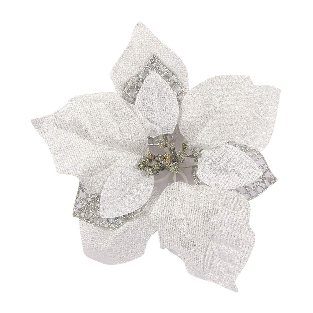 Riverbyland-9-Poinsettia-Flower-Christmas-Tree-Ornament-White-6-Pcs