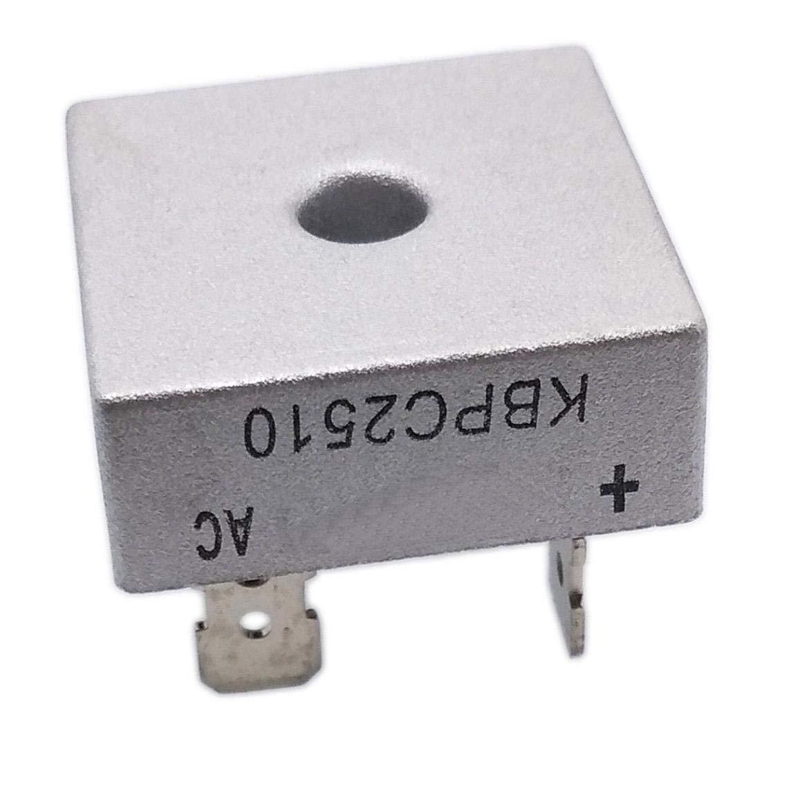 KBPC2510 25A Amp 1000V Volt Diode Bridge Rectifier 28 x 28 x 21mm