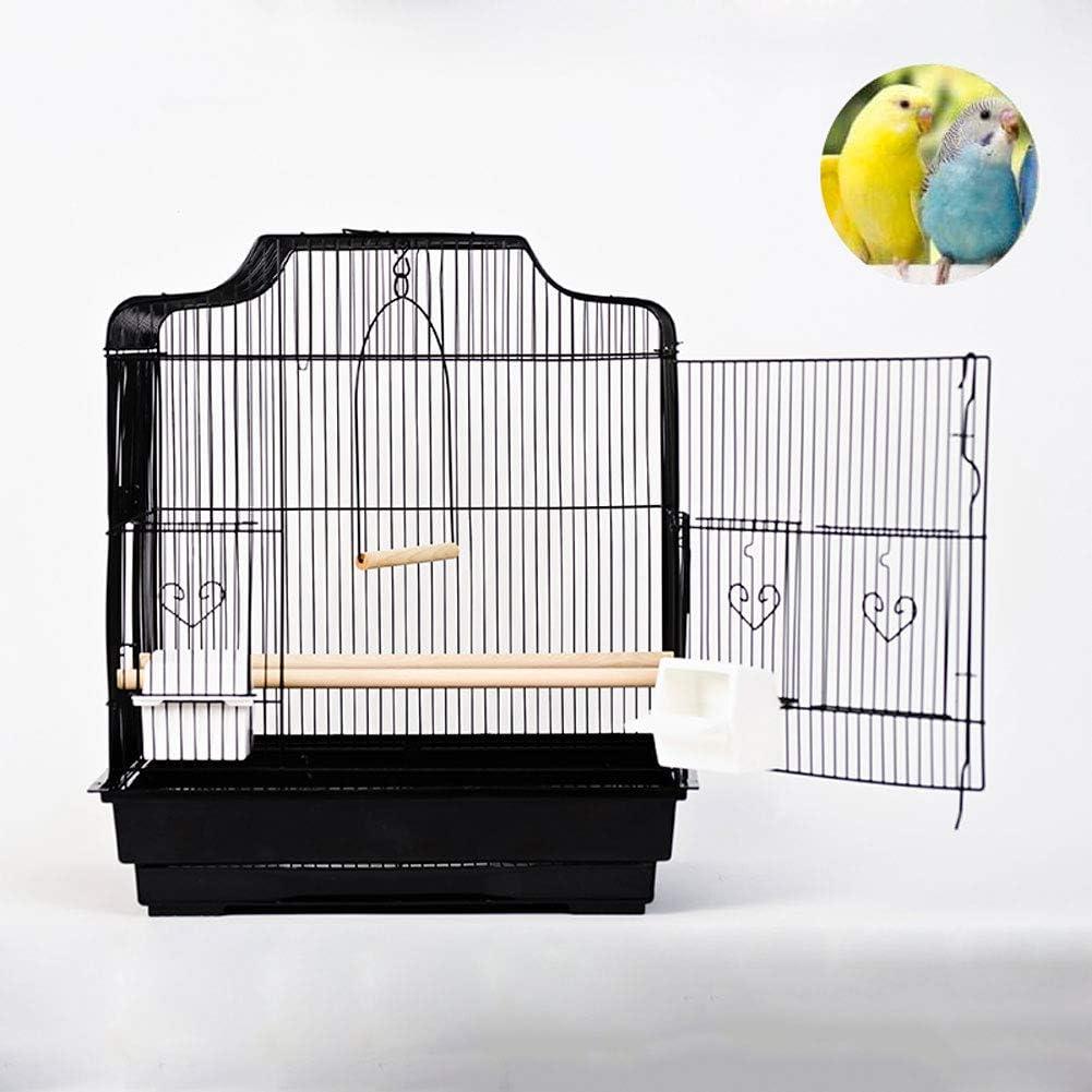 LTLHXM Jaula Pájaros Metal con Columpio y Poste de Pie No Tóxico Jaula para Mascota Cómoda de Limpiar para Interior O Exterior Jaula Metálica 47 * 36 * 53Cm,b