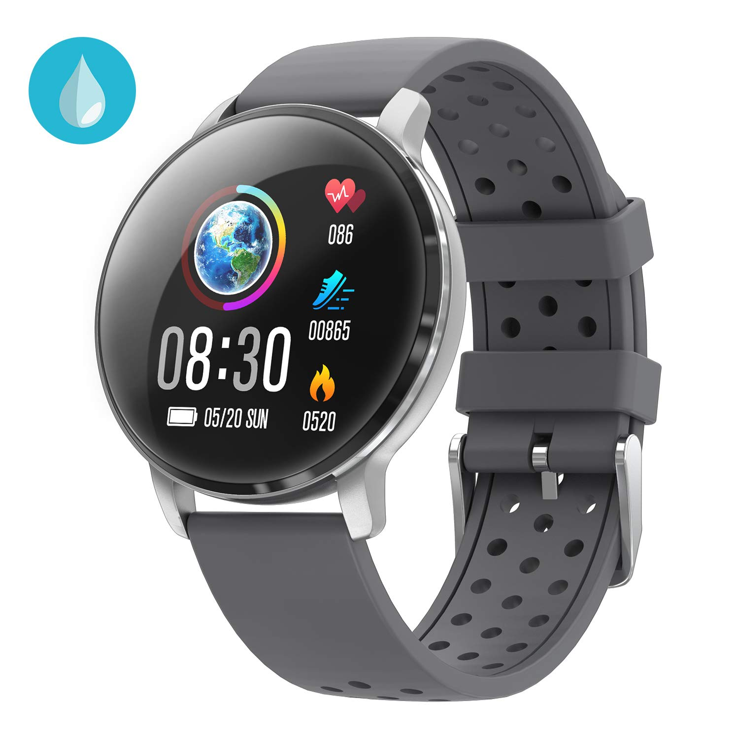 Fitness Activity Tracker CatShin CS06 Fitness Tracker Watch Band with Heart Rate Blood Preasure Sleep Monitor Fitness Watch IP68 Waterproof Calorie Counter Pedometer Message Reminder for Android IOS