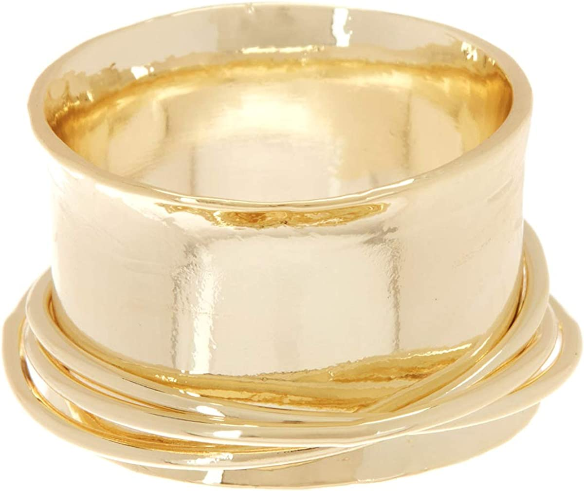 Gemaholique Gold Clad Triple Band Ring