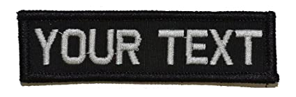 Amazon.com  Customizable Text 1x3 Patch w Hook Fastener Morale Patch ... 823b28af117