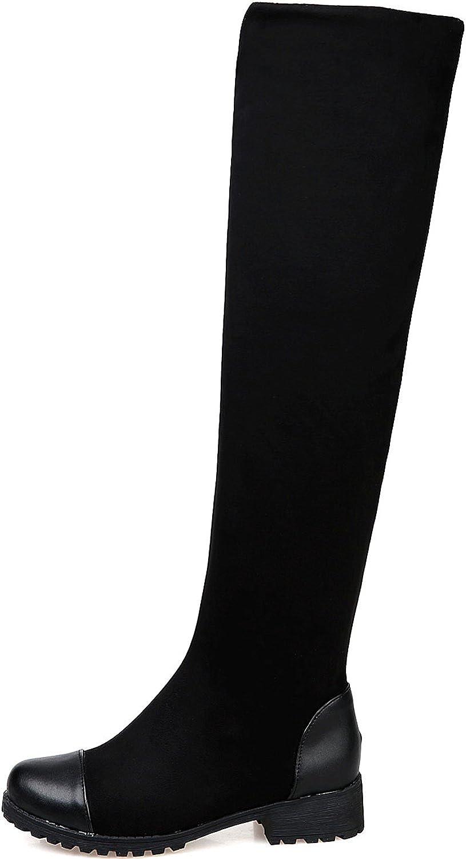 BIGTREE Knee High Boots Women Fall