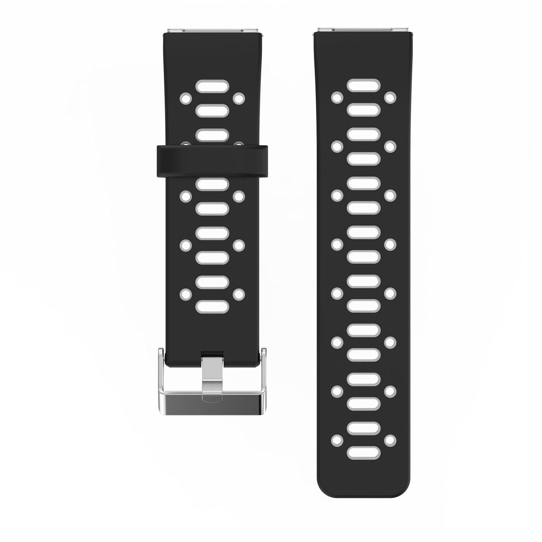 Fitbit Blaze Smart Fitness Watch Strap Band – feskioアクセサリーソフトシリコンブレスレット交換ストラップリストバンドバンドwith Quick Release Pins for Fitbit Blaze Smart Fitness Watch B076H5QPF6 Black + Gray