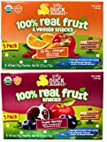 Little Duck Organics Tiny Gummies 100% Real Fruit and Veggies Variety Pack (10 Pouches Total)