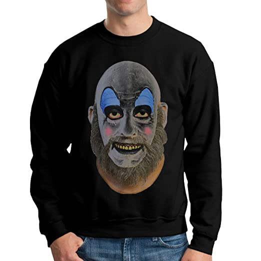 fc53d46529a0 Oufudell Captain Spaulding Men's Round Neck Sweater Casual Cotton Long  Sleeve T Shirts at Amazon Men's Clothing store: