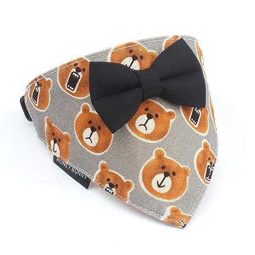 CHEN. Pañuelo para Perros: pañuelo Ajustable, patrón de Oso ...