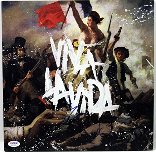 Chris Martin Coldplay Viva La Vida Signed Album Cover W/ Vinyl #X31614 - PSA/DNA Certified