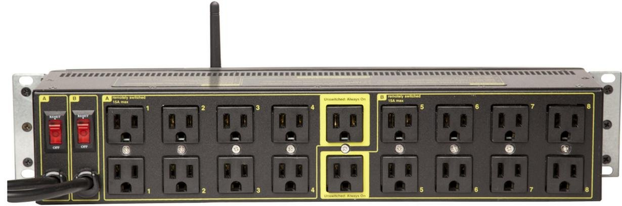 Echo Compatible Power Switching - 2 Inputs, 8 Circuits, 16 Switched Outlets, 2 Unswitched, Surge Protection, Web & Script Control Amp/Volt Meters, WiFi, HTTPS, SSH, Lua, NOW ALEXA / ECHO COMPATIBLE by DIGITAL LOGGERS (Image #2)