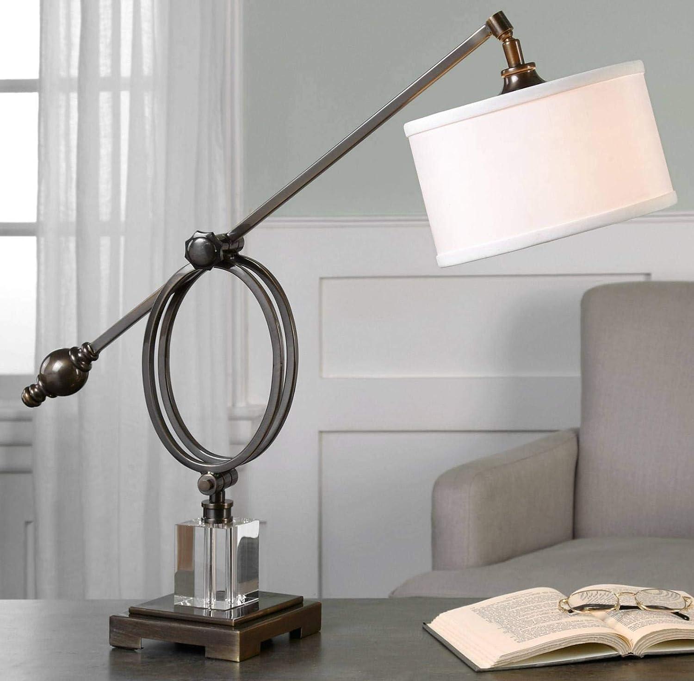 Amazon.com: Uttermost levisa Color Bronce Oscuro Lámpara de ...