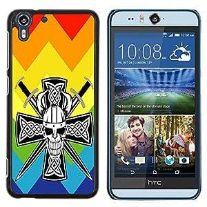 Dragon Case - FOR HTC Desire EYE M910x - Don't cry for pain - Caja protectora de pl??stico duro de la cubierta Dise?¡Ào Slim Fit