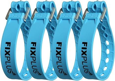 empaquetado y Fijo zurren Fixplus Strap de 4/Pack/-/Amarre para Fijar de pl/ástico Especial con Hebilla de Aluminio 66/cm x 2,4/cm Fijar