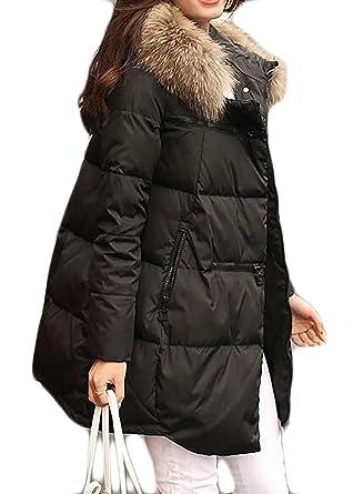 brand new baa41 52faa Amazon.com: UUYUK Womens A-Line Down Coat Fur Hood Down ...