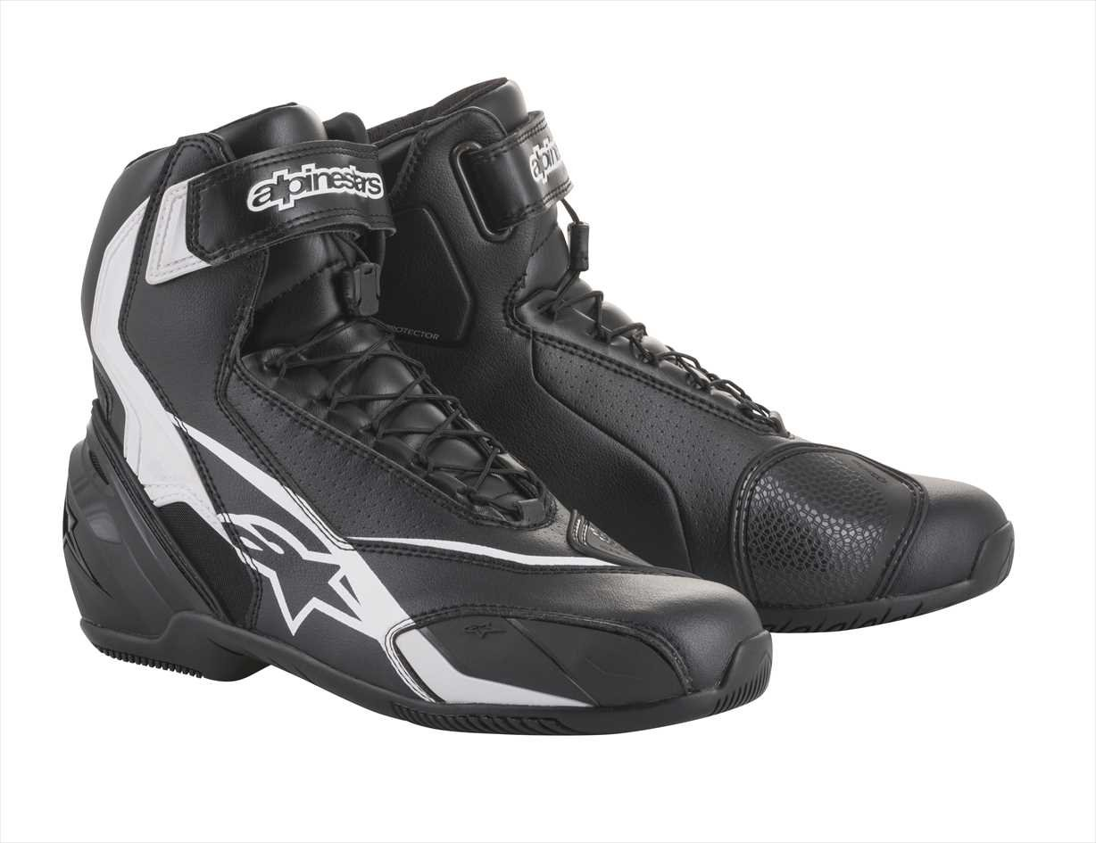 SP-1 v2 Motorcycle Street Road Riding Shoe (44 EU, Black Black) Alpinestars 1691560144