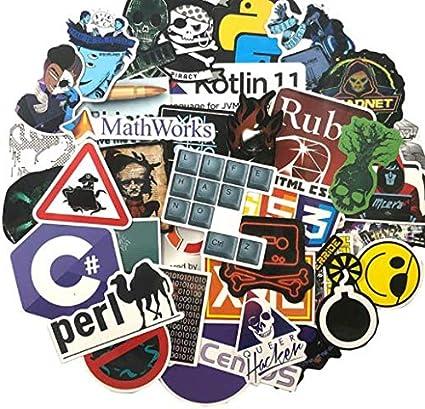 DZCYAN 72 Unids/Pack Programador Pegatinas Hacker Pegatinas para ...