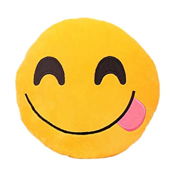 Amazon.com: lovous 32 cm Emoji Emoticono Amarillo Cojín ...