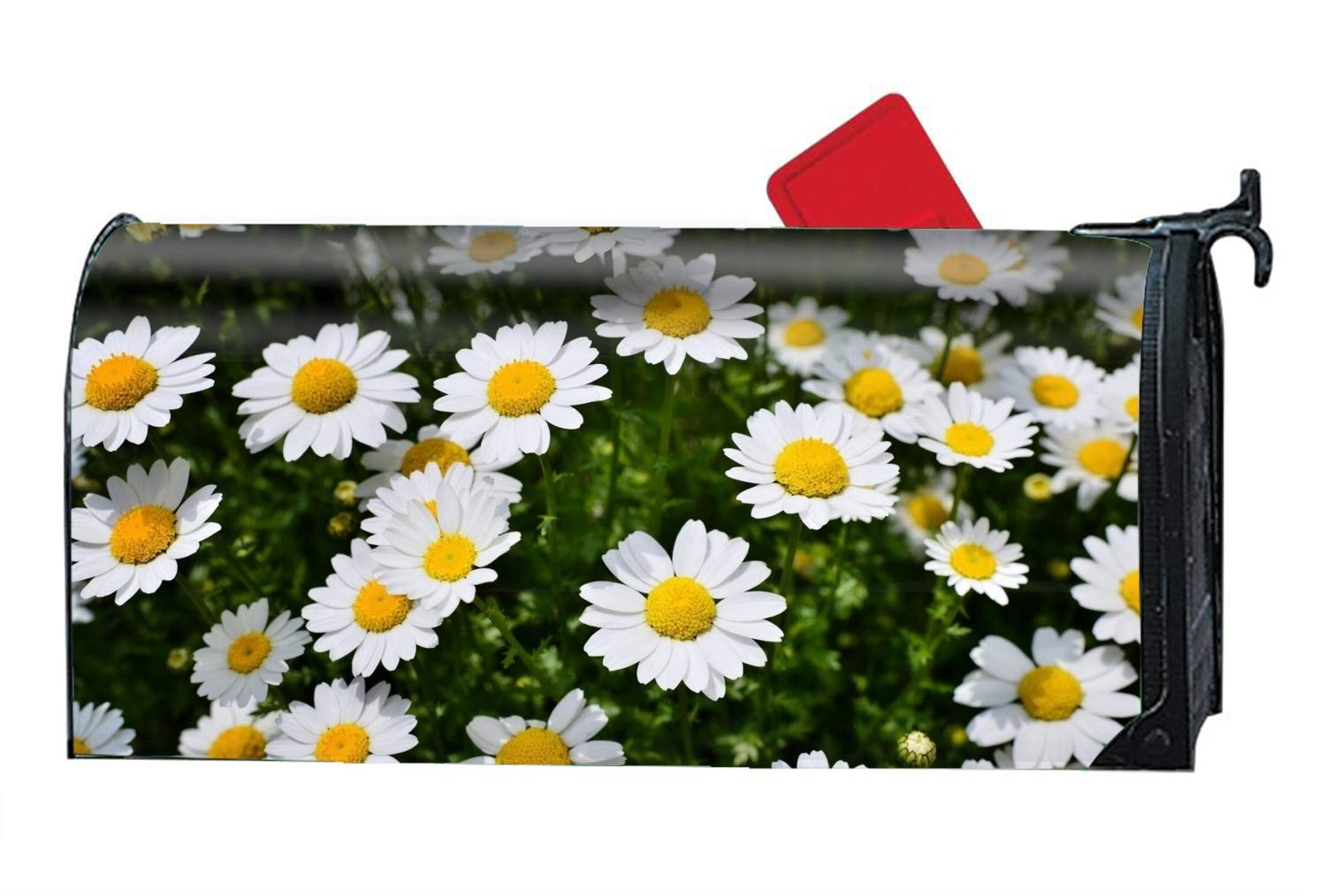 KSLIDS Earth Flowers Magnetic Mailbox Cover - Glowing Decorative Vintage Mailbox Wrap for Standard Size