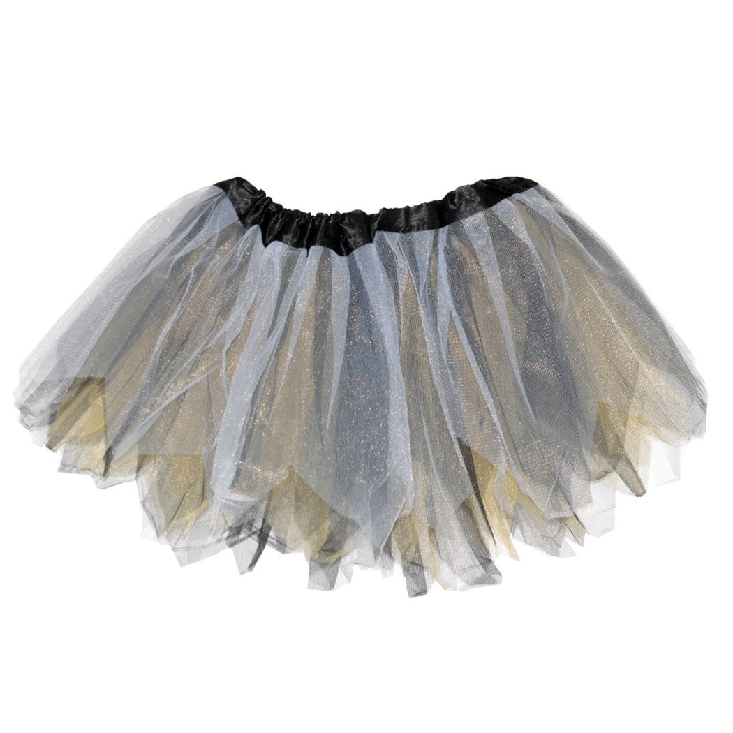 Gone For a Run Runners Premium Tutu Lightweight | One Size Fits Most | Colorful Running Skirts | Gold/Black/White by Gone For a Run
