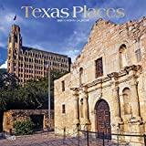 Texas Places 2020 12 x 12 Inch Monthly Square Wall Calendar with Foil Stamped Cover, USA United States of America Southwest State Nature