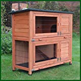 FeelGoodUK Rabbit Hutch and Cover with Rain Co