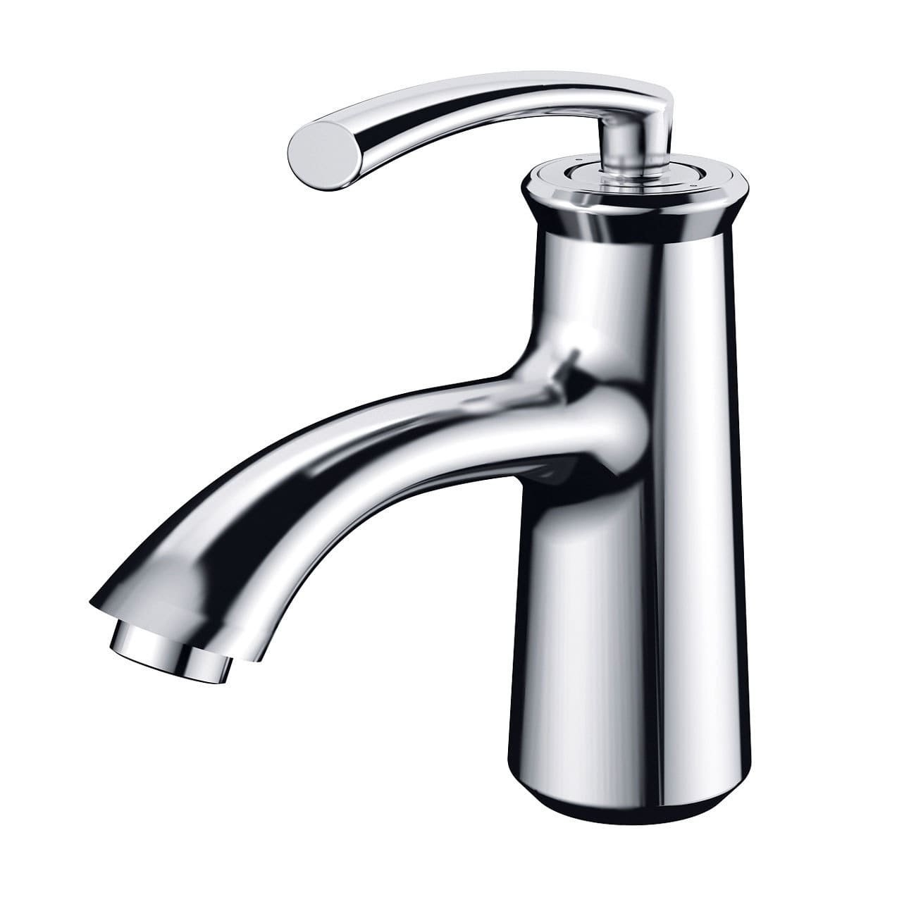 ELIMAX'S Elimax Luxury Short Chrome Single-handle Bathroom Lavatory Faucet by ELIMAX'S (Image #1)