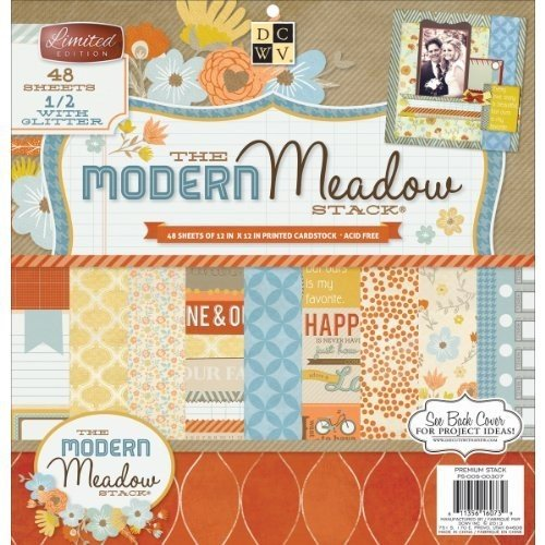 Diecuts With A View Paper Stack, 12 by 12-Inch, Modern Meadow, (Sided Cardstock Scrapbooking Paper)
