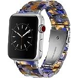 Omter Compatible with Apple Watch バンド 44mm Series 5 /4, 42mm Series 3 /2 /1, ファッションな樹脂製ブレスレット 時計バンドfor iWatch アップルウォッチ の全シリーズ (ブルー 42mm 44mm)