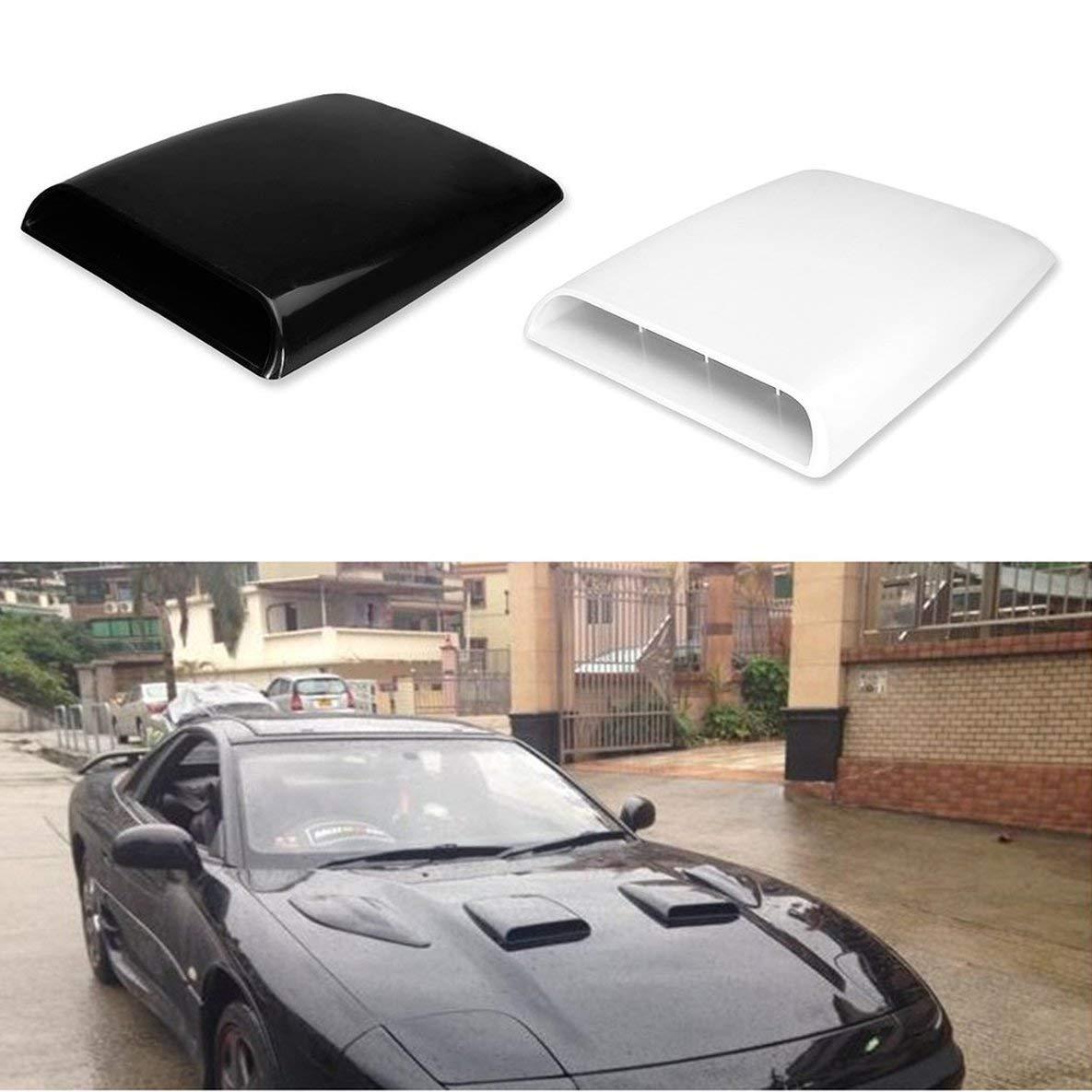Pratico accessorio universale per auto 4x4 flusso daria cappa aspirante cofano cofano decorativo ABS sfiato decalcomania accessorio auto