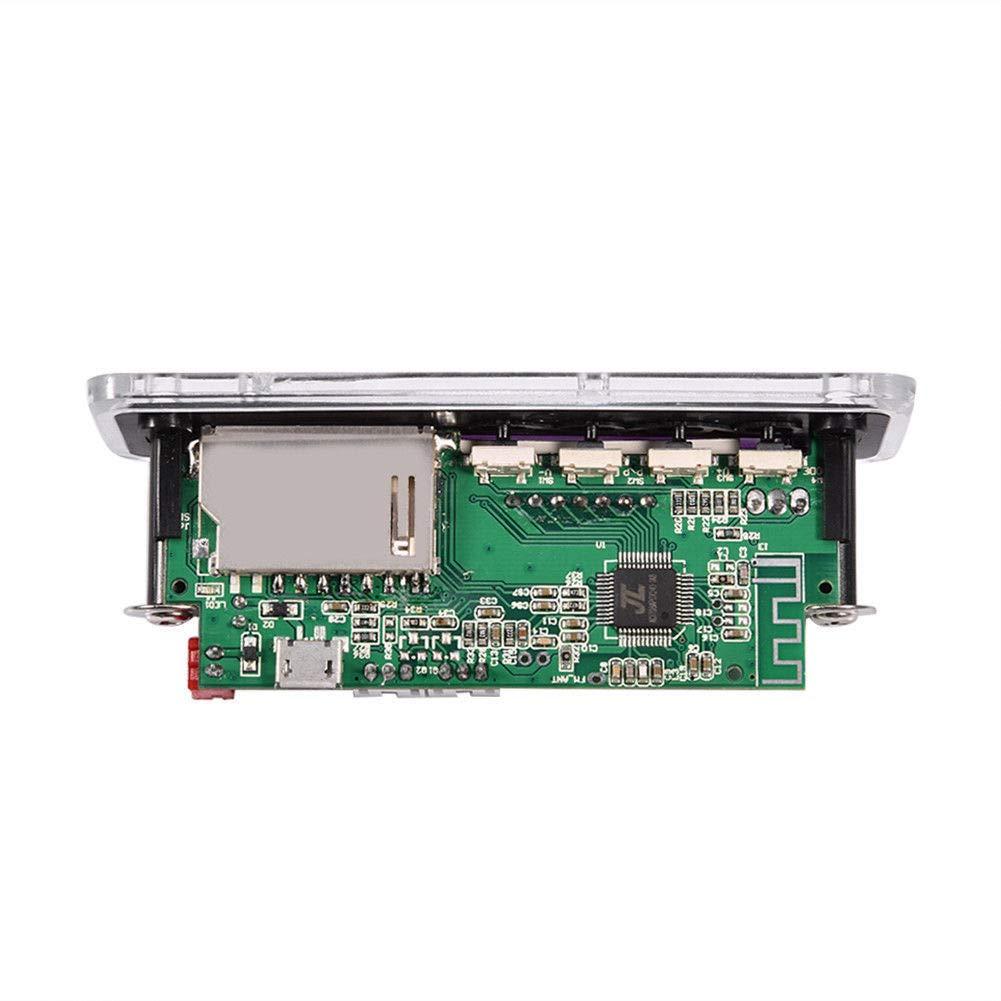 12V 5.0 Module D/écodeur Audio du Panneau Audio USB Aux FM Radio Module sans D/écodage Mp3 Wma//Wav//Flac//Ape Cikuso DC 5V Affichage De L/écran Couleurs Noir