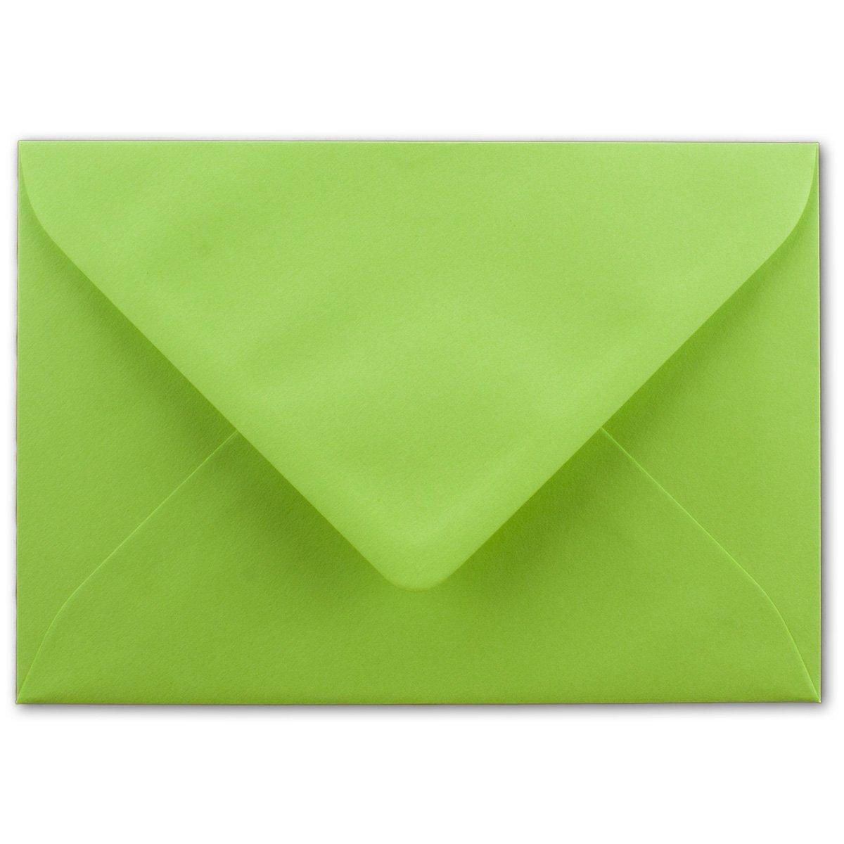 200x Brief-Umschläge in Dunkel-Grün - 80 g m² - KuGrüns in DIN B6 Format 125 x 175 mm - Nassklebung ohne Fenster - Qualitätsmarke FarbenFroh® B076H774Y9 | Diversified In Packaging