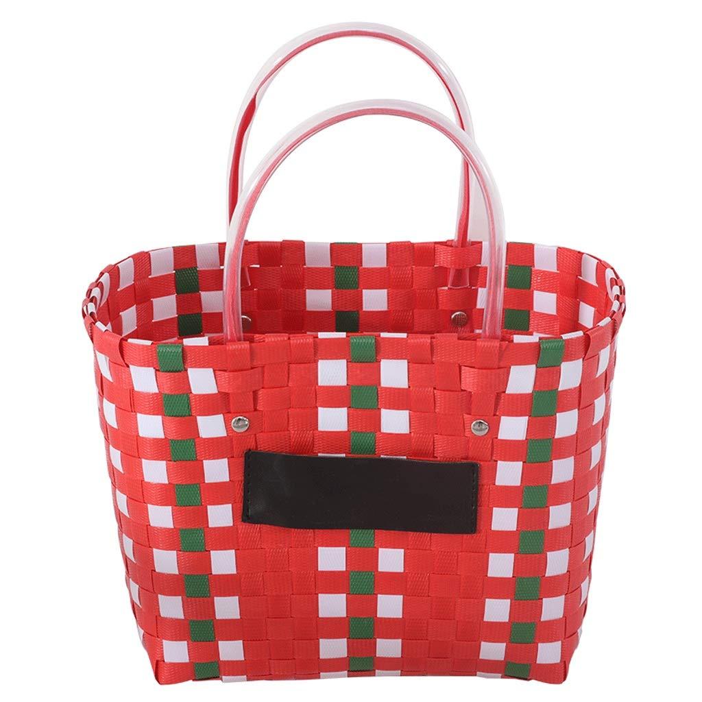 Tragbarer Korb für Picknickkorb-Rattan-Aufbewahrungskorb (Farbe   B) B07MV2JX24   Geeignet für Farbe