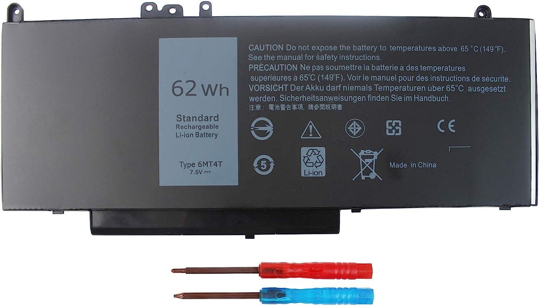 Shareway 6MT4T Replacement Laptop Battery Compatible for Dell Latitude E5470 E5570 Precision 3510 K3JK9 TXF9M 0TXF9M 7V69Y 07V69Y 79VRK 079VRK 7.6V 62Wh