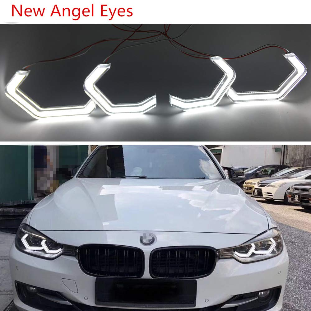 New Angel Eyes For Bmw Headlight For M4 Style For Bmw 2 3 4 5 Series Crystal Iconic Style Led Angel Eye