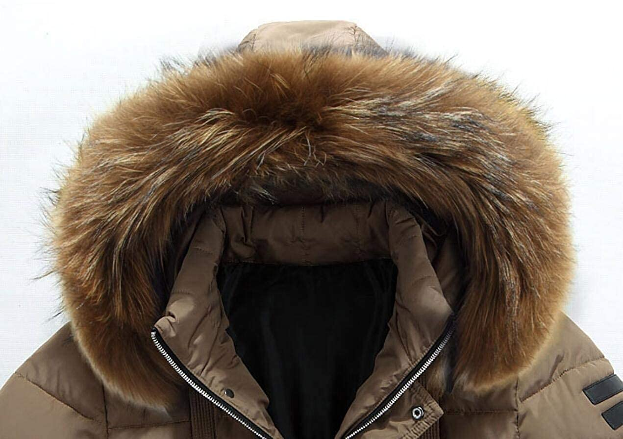 M/&S/&W Mens Mid-Long Hooded Down Jacket Thicken Wadded Coat