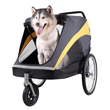 V.JUST Cochecito para Mascotas Gold Bus para Perros Y Gatos Perro Grande para Mascotas