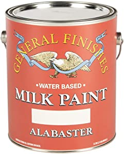 General Finishes Water Based Milk Paint, 1 Gallon, Alabaster