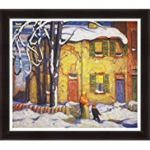 Lawren Harris Limited Edtn Giclee Group Of Seven Print Old Houses Toronto Winter