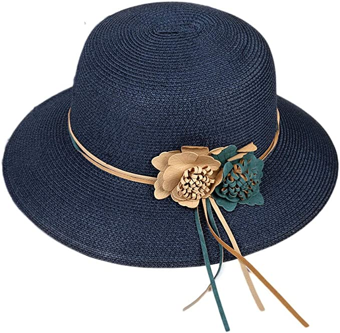 QWQW Sombrero Paja Mujer,Señora Sombreros Mujer Playa Disfraz ...