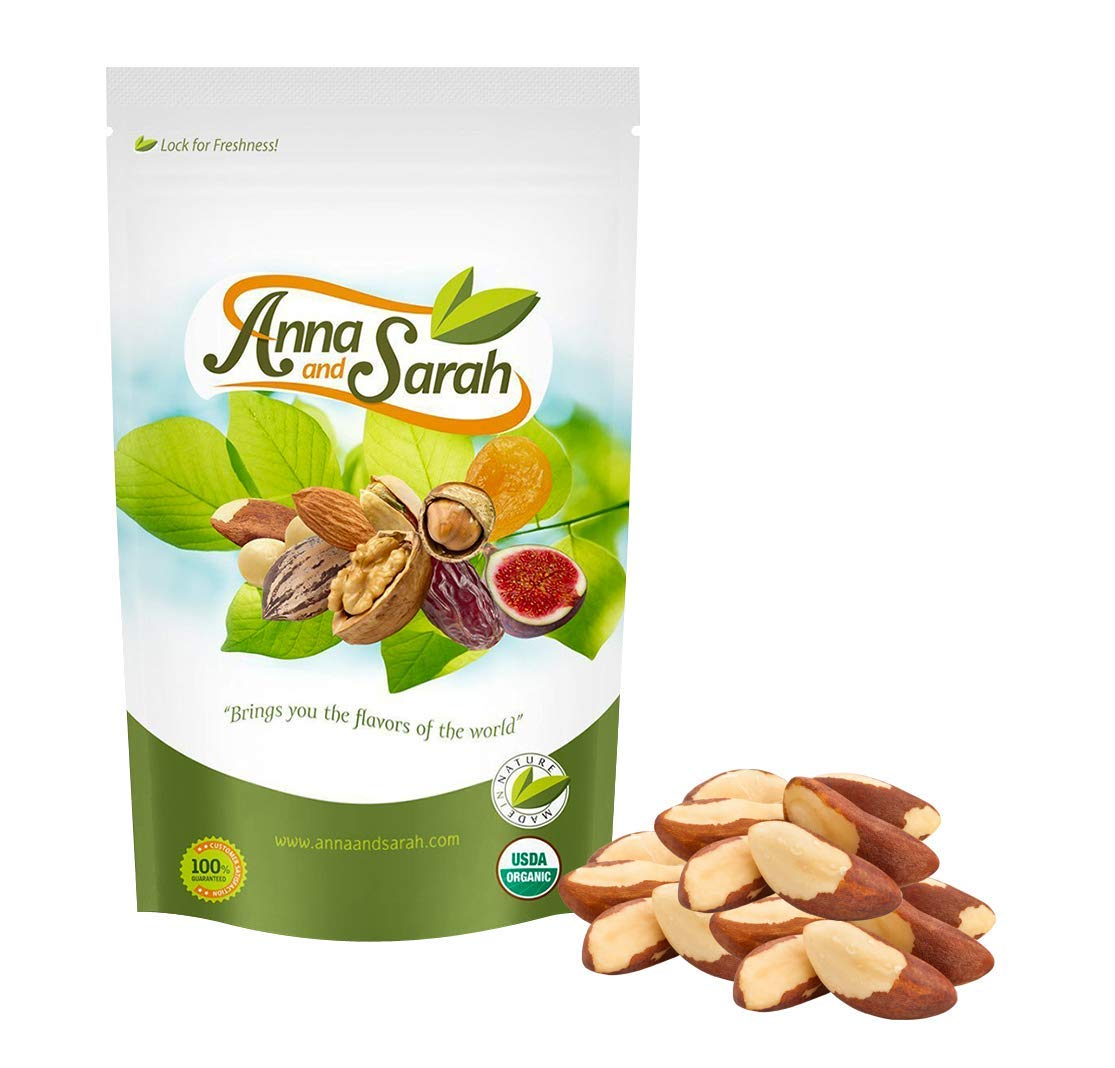 Anna and Sarah Organic Raw Brazil Nuts 3 Lbs in Resealable Bag by Anna and Sarah (Image #2)