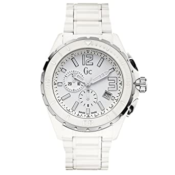 b77ed1f9f Image Unavailable. Image not available for. Color: Guess Collection GC  Men's Sport Class Chronograph White Ceramic Swiss Made Watch ...
