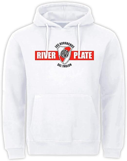 River Plate Argentina - Sudadera con capucha, diseño de Ultras de fútbol, color blanco: Amazon.es: Ropa y accesorios