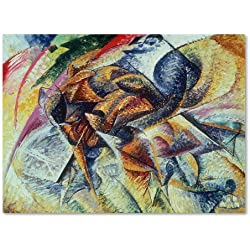 Trademark Fine Art Dynamism of a Cyclist 1913 Artwork by Umberto Boccioni, 24 by 32-Inch