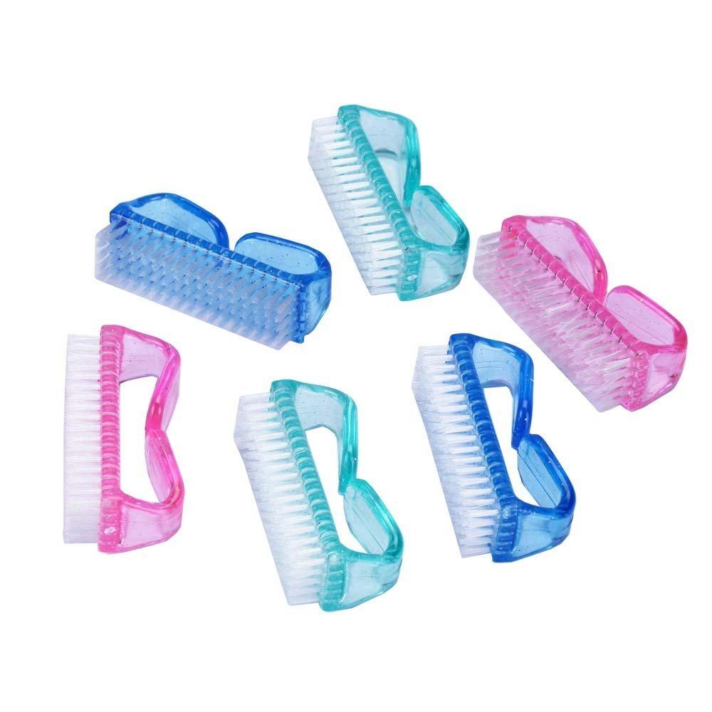 6pcs Handle Nail Brush Nail Hand Scrubbing Cleaning Brush Dayilymall
